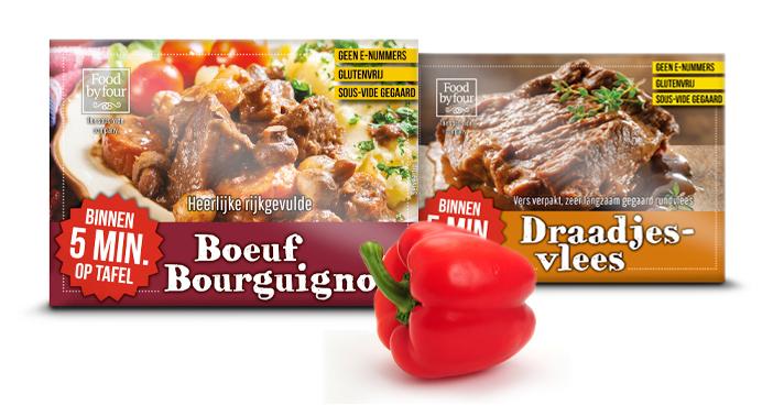 food by four - the sous vide company - boeuf ourguignon en draadjesvlees