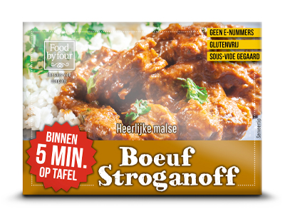 Food by four - the sous-vide company - assortiment - Boeuf stroganoff