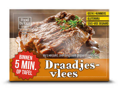Food by four - the sous-vide company - assortiment - draadjesvlees